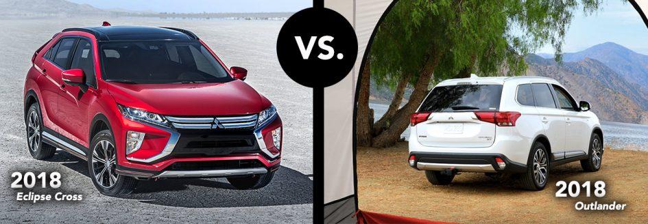 Mitsubishi Eclipse Cross vs. Outlander comparison