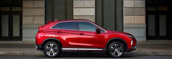 Red 2019 Mitsubishi Eclipse Cross parked curbside
